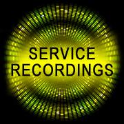 Service recordings button